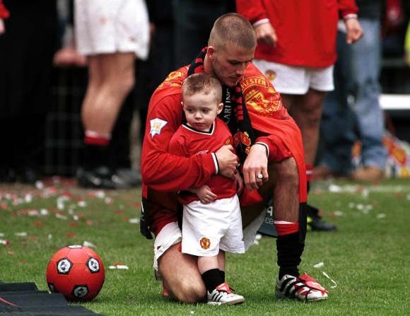 Brooklyn und David Beckham