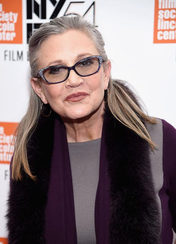 """Carrie Fisher played """"Leia"""" in """"Star Wars"""""""