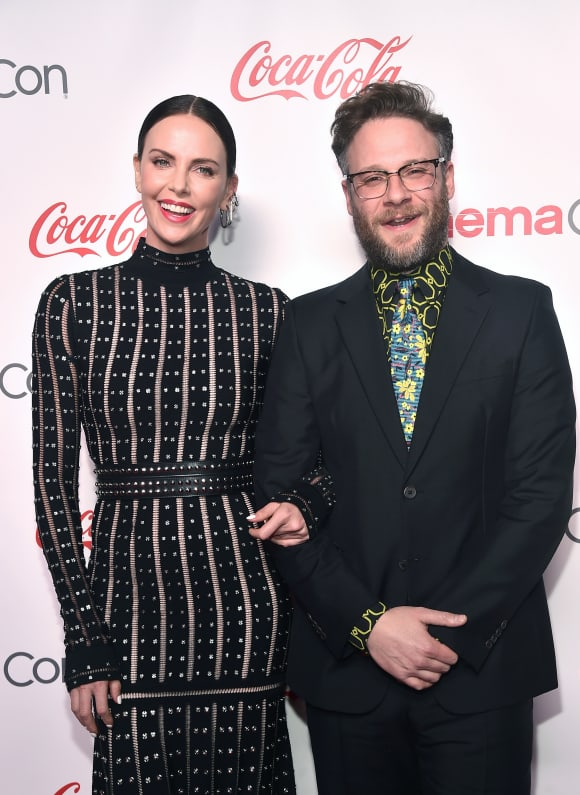 Charlize Theron and Seth Rogen