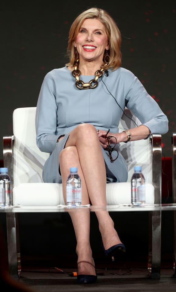 Christine Baranski bei einer Pressekonferenz in Pasadena 2019