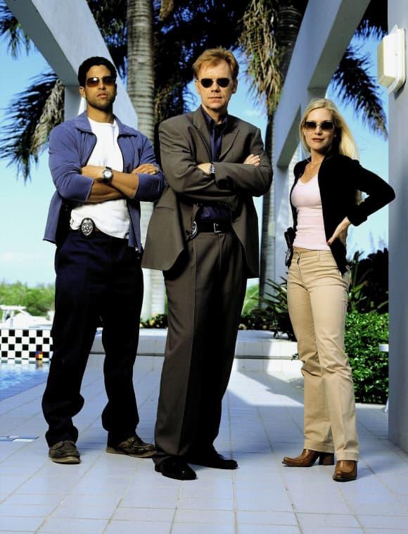 "Die Hauptdarsteller von ""CSI: Miami"": Adam Rodriguez, David Caruso und Emily Procter"