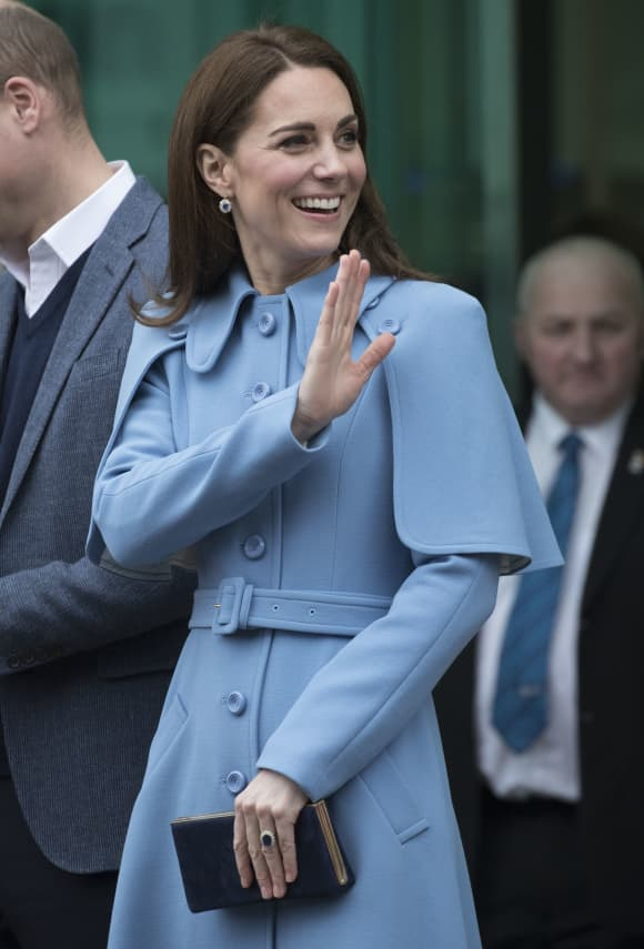 Catherine Duchess of Cambridge in Ballymena in Northern Ireland