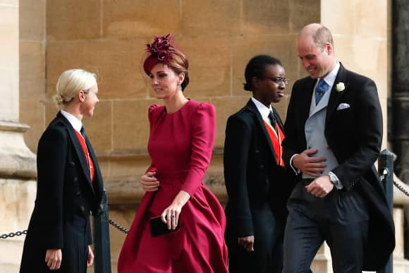 Duchess Catherine Prince William St. George's Chapel Windsor Eugenie Wedding