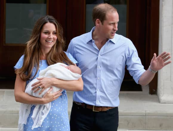 Duchess Catherine, Prince William with Prince George