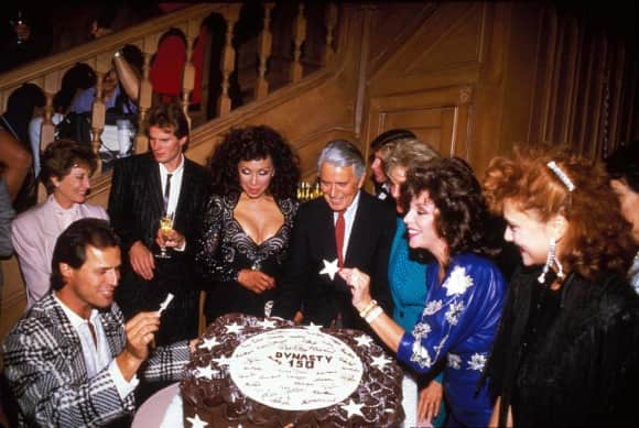"The ""Dynasty"" cast celebrating a milestone"