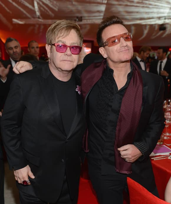 "Elton John and ""U2"" frontman Bono"