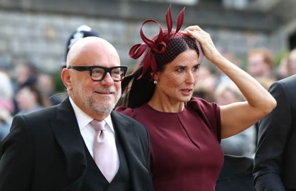 Eric Buterbaugh and Demi Moore Windsor Castle Eugenie Wedding