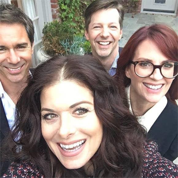 Eric McCormack, Debra Messing, Sean Hayes and Megan Mullally Will & Grace Cast Selfie
