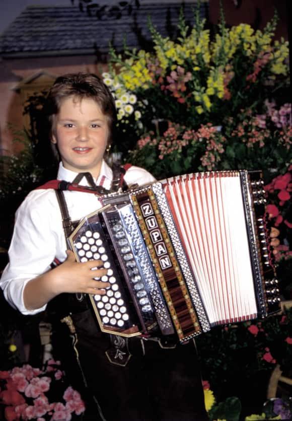 Florian Silbereisen als Kind im Jahr 1992