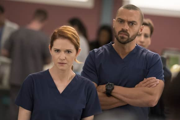 Sarah Drew April Jesse Williams Jackson Grey's Anatomy