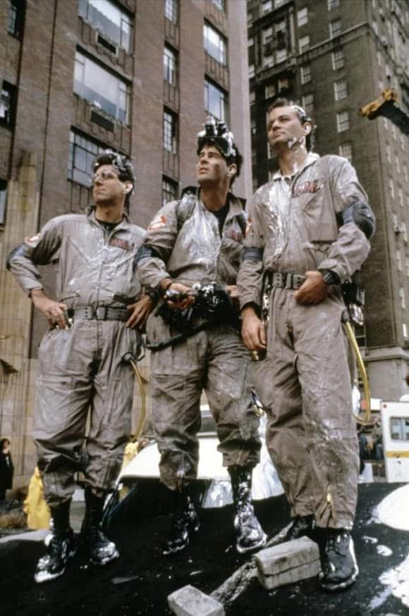"Harold Ramis, Dan Aykroyd und Bill Murray in ""Ghostbusters"""