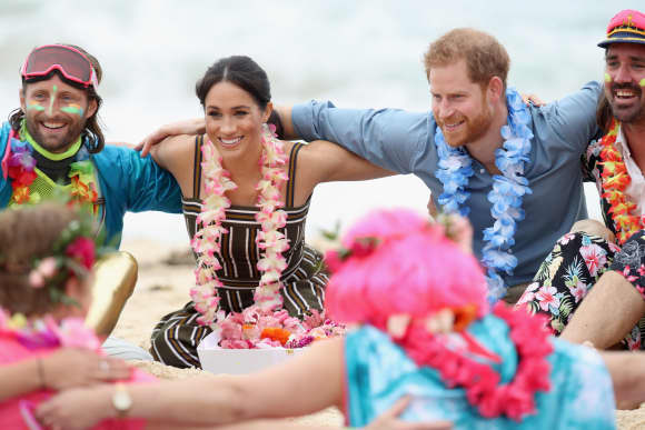 The Duke and Duchess of Sussex talk to members of OneWave