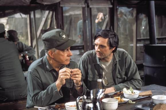 "Harry Morgan and Alan Alda in ""M*A*S*H"""