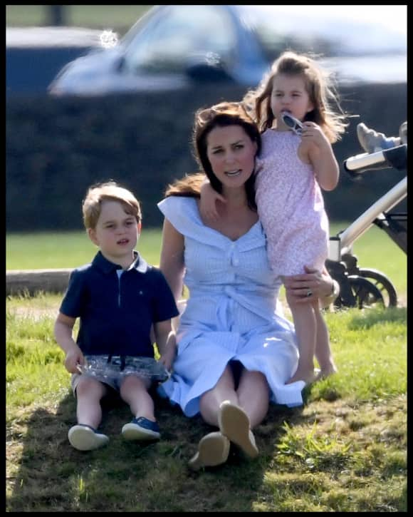 Prince George, Duchess Catherine and Princess Charlotte