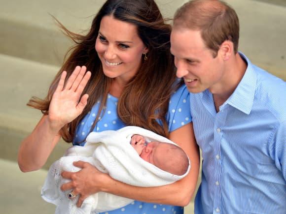 Herzogin Kate und Prinz William nach der Geburt von Prinz George 2013