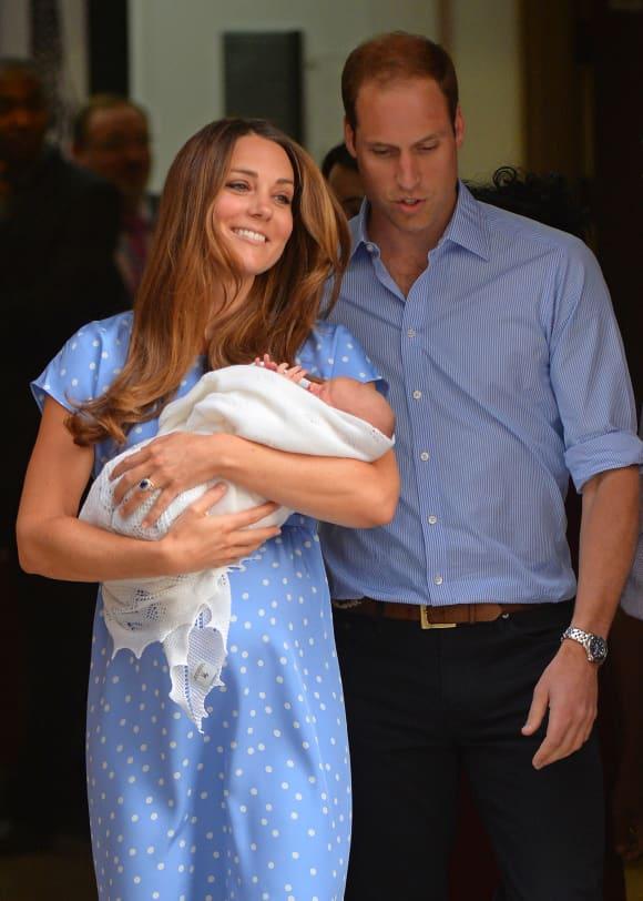 Herzogin Kate und Prinz William bei der Geburt von Prinz George
