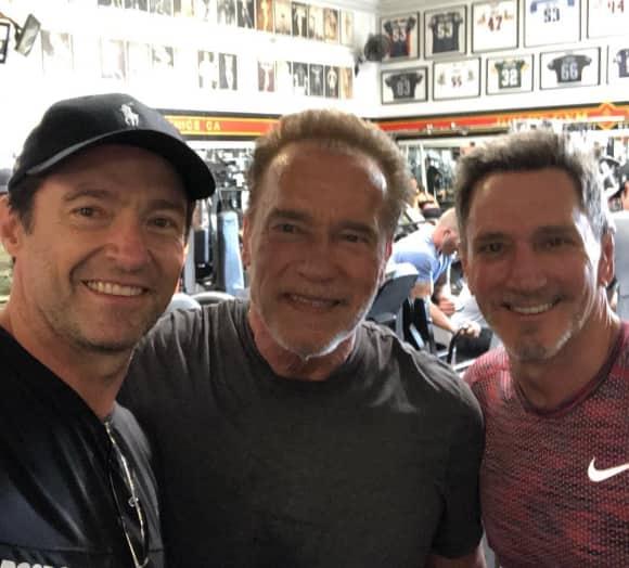 Hugh Jackman Arnold Schwarzenegger