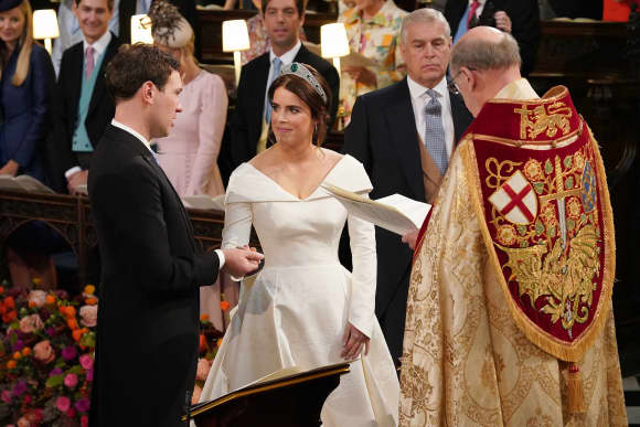 Jack Brooksbank Princess Eugenie Wedding St. Georges Chapel Windsor Altar