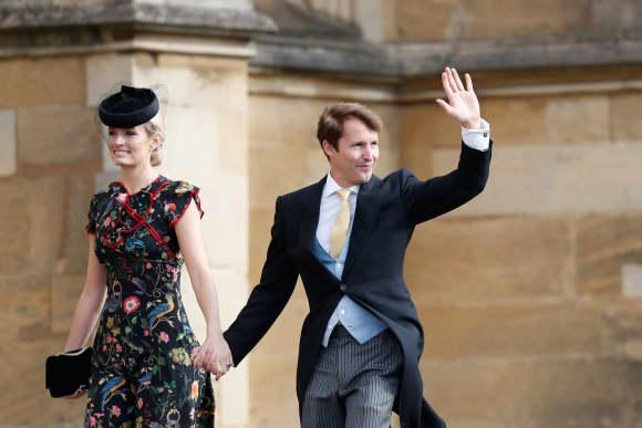 James Blunt Sofia Wellesley St. George's Chapel Princess Eugenie's Wedding