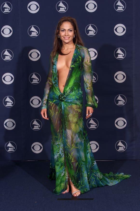Jennifer Lopez in 2000 in THAT Versace dress