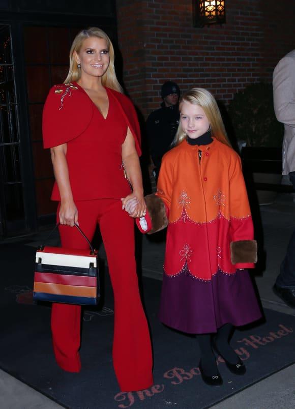 Jessica Simpson mit ihrer Tochter Maxwell