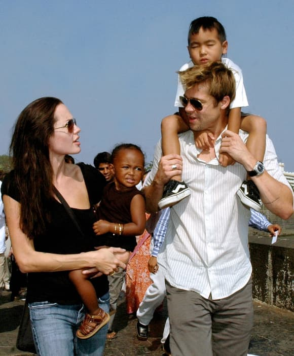 Angelina Jolie and her family in 2006