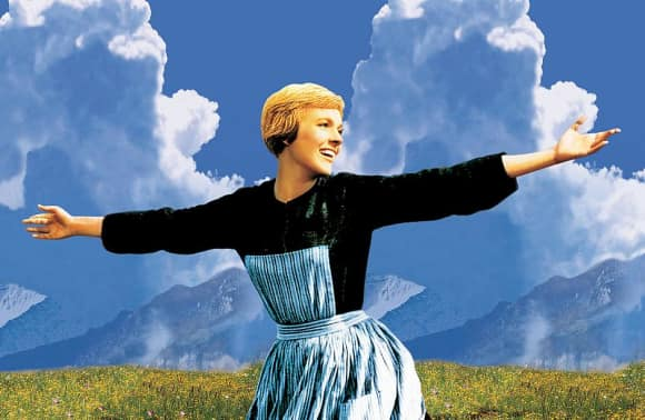 "Julie Andrews as ""Maria von Trapp"" in The Sound of Music"