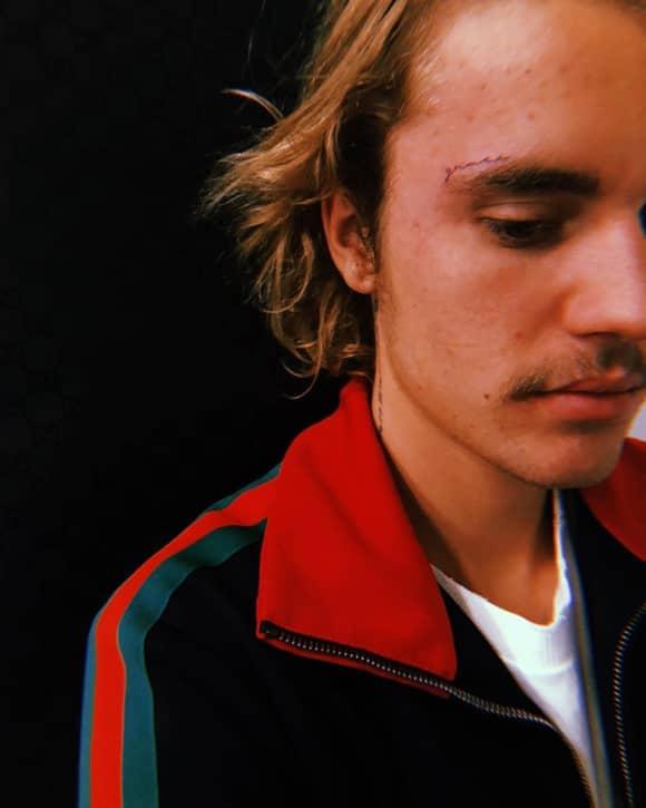 Justin Bieber Tattoo Gesicht Grace