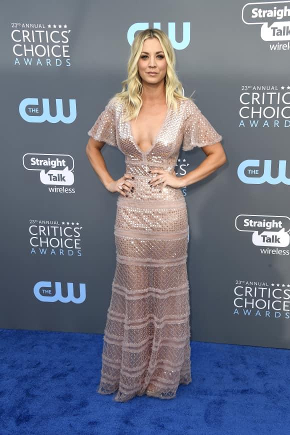 Kaley Cuoco at the Critics' Choice Awards 2018