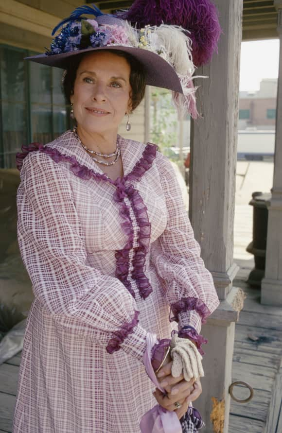 "Katherine ""Scottie"" MacGregor in her iconic role as ""Harriet Oleson"" on Little House on the Prairie in 1979"