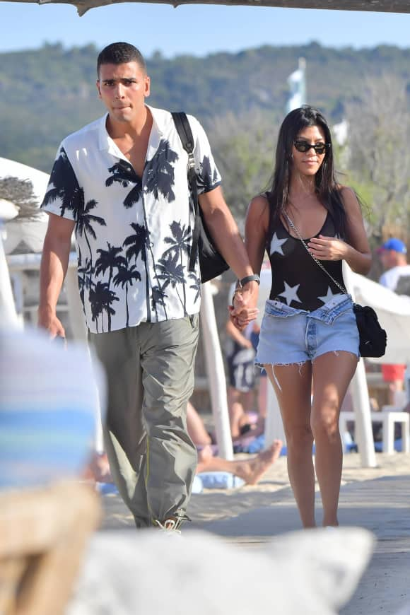 Younes Bendjma und Kourtney Kardashian in St. Tropez 2017