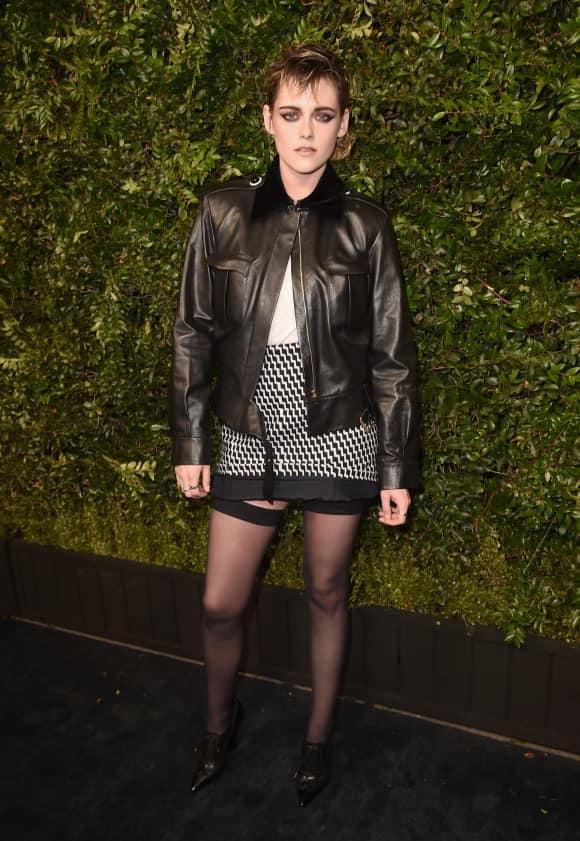 Kristen Stewart, Kristen Stewart in Strapsen, Kristen Stewart Outfit, Kristen Stewart 2018, Kristen Stewart Oscar-Dinner, Kristen Stewart in Chanel