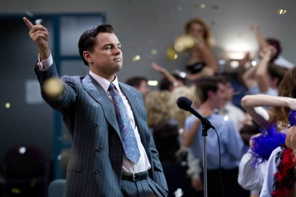 "Leonardo DiCaprio in ""The Wolf of Wall Street"""