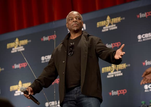 LeVar Burton Today at a Star Trek fan event in New York City