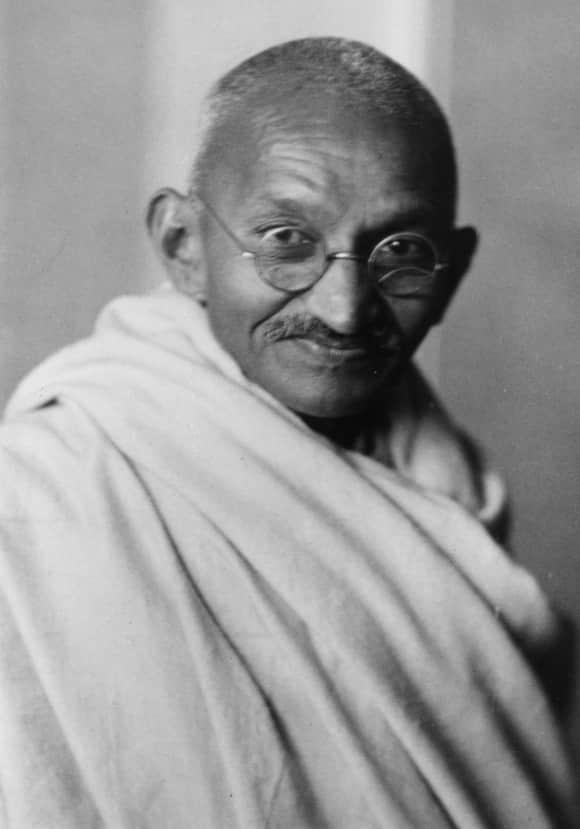 Der indische Unabhängigkeitskämpfer Mahatma Gandhi 1941