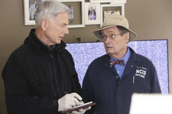 "Mark Harmon ""Gibbs"" and ""Ducky"" David McCallum in ""NCIS"""