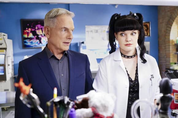 "Mark Harmon and Pauley Perrette Abby in ""NCIS"""
