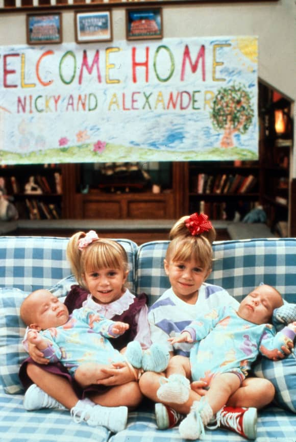 "Mary-Kate Olsen und Ashley Olsen am Set von ""Full House"" 1991"