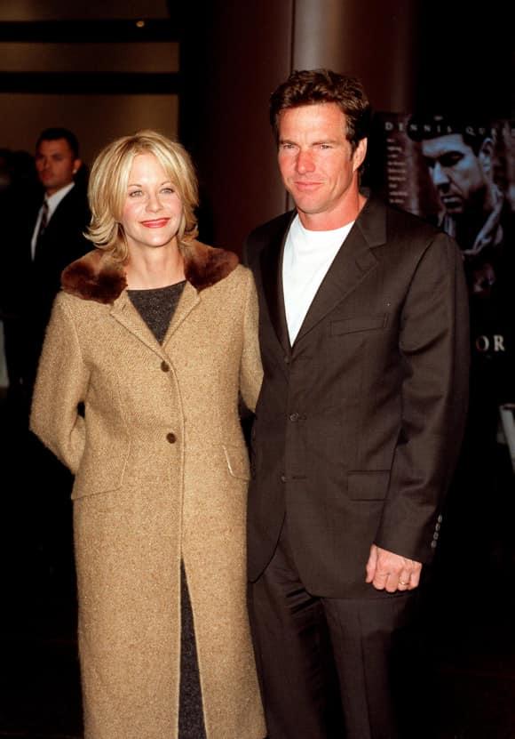 """Meg Ryan und Dennis Quaid 1998 bei der Premiere von """"Savior"""""""