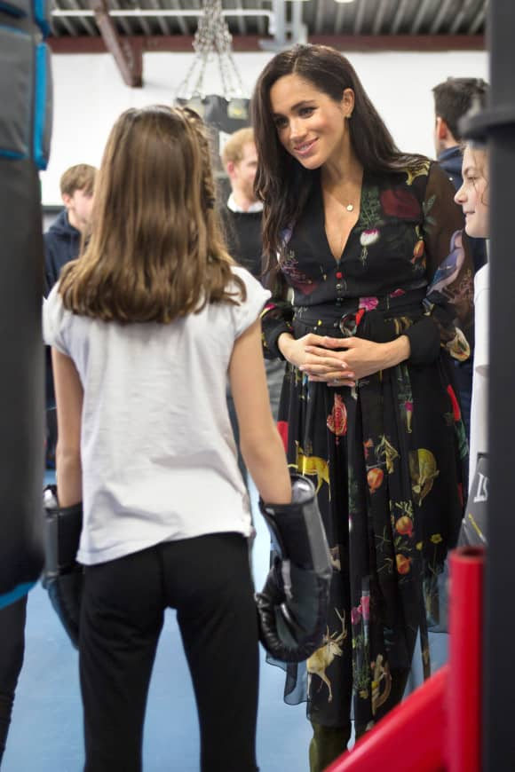Meghan visits the Boxing Charity, Empire Fighting Chance, in Bristol