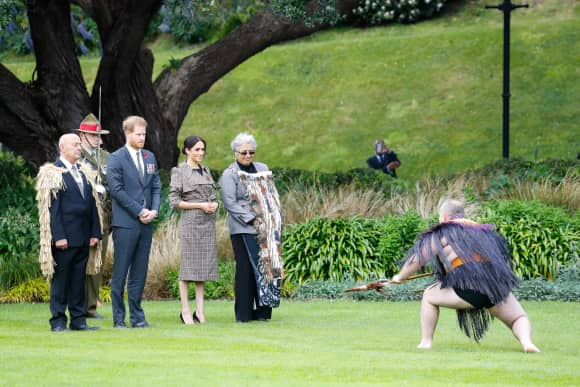 The Duke and Duchess of Sussex at the Government House in Wellington, New Zealand