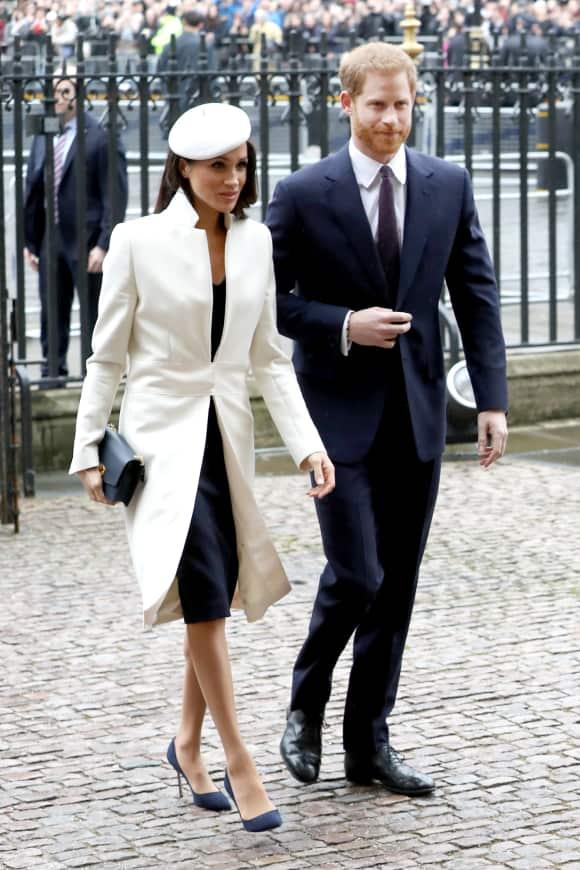 Meghan Markle und Prinz Harry auf dem Weg zum Gottesdienst in der Westminster Abbey