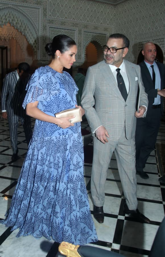 Meghan and King Mohammed VI of Morocco
