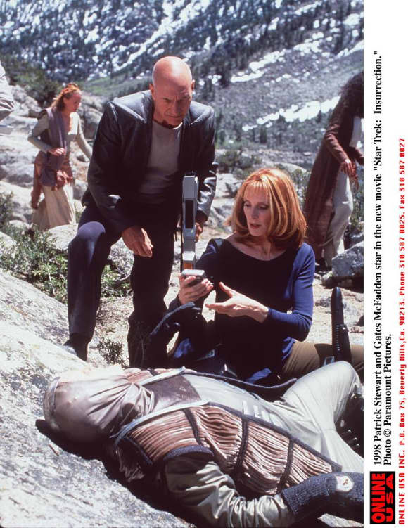 """Dr. Beverely Crusher"" was played by Gates McFadden on Star Trek. The Next Generation"