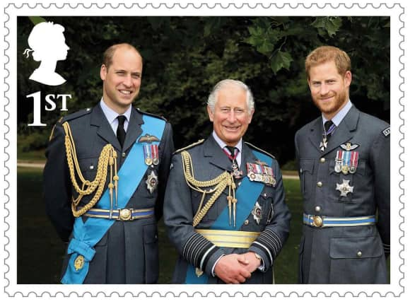 New stamps released to mark Prince Charles's 70th birthday