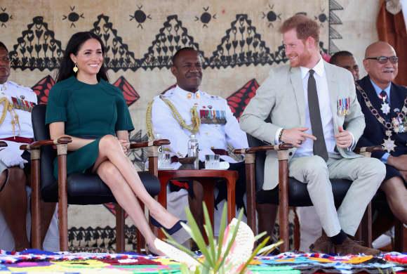 The Duke and Duchess of Sussex in Nadi, Fiji