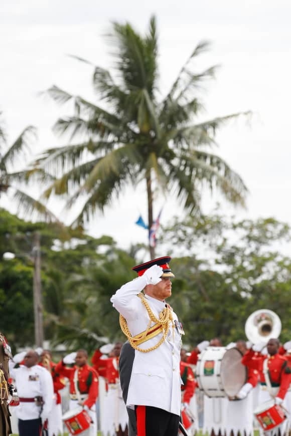 Prince Harry attends the War Memorial Wreath Laying in Suva, Fiji