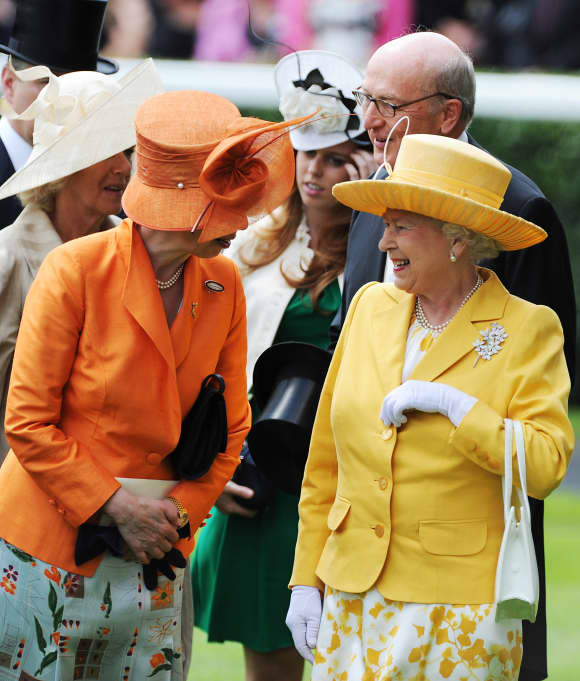 Queen Elizabeth II and Princess Anne