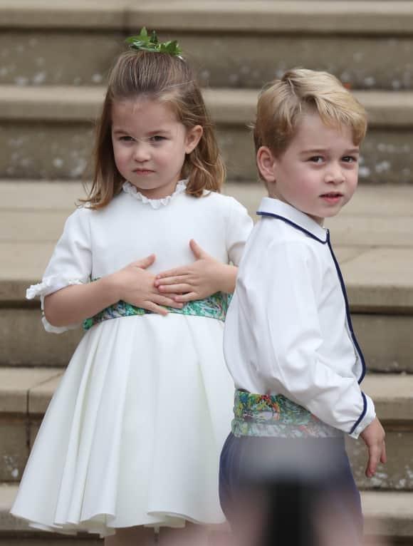 Princess Charlotte and Prince George St. George's Chapel Windsor Eugenie Wedding