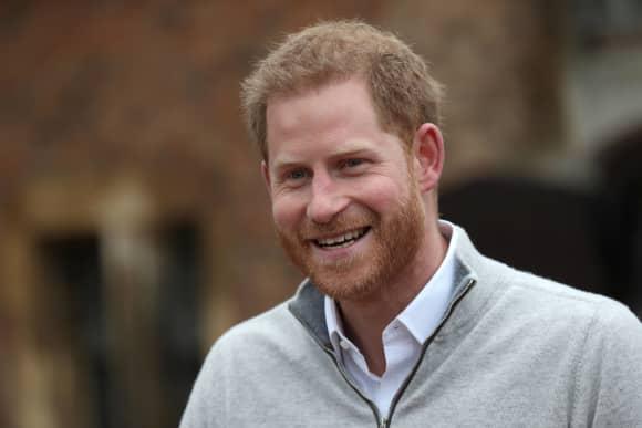 Prinz Harry kurz nach der Geburt von Baby Sussex
